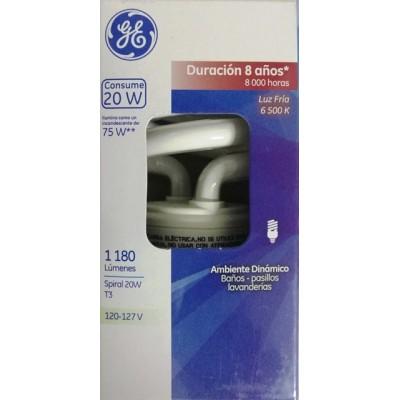 35743 Lámpara Fluorescente Compacta Spiral 20 W c/u